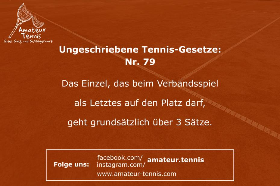 Ungeschriebene Tennis-Gesetze
