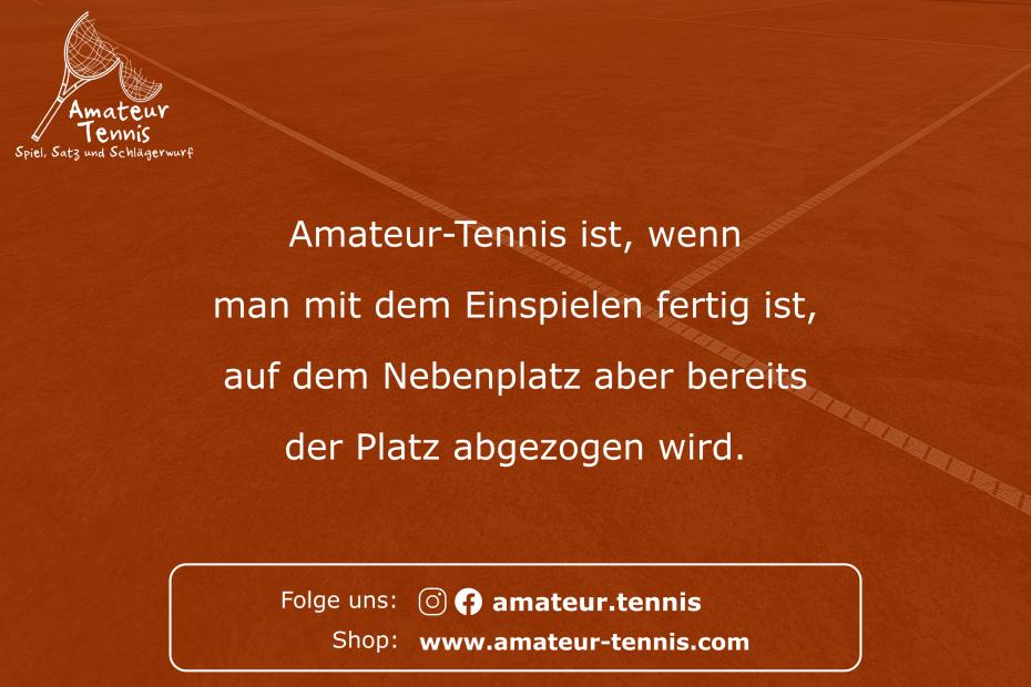 Einspielen - Tennis