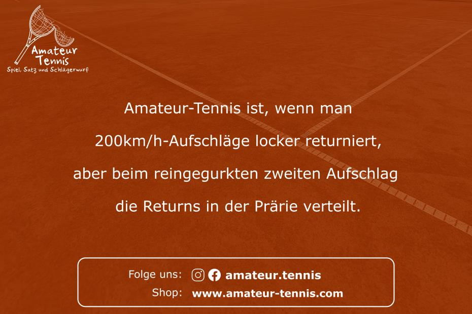 Returns in der Prärie - Tennis