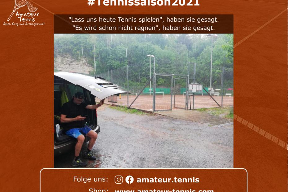 Lass uns heute Tennis spielen