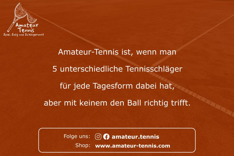 Unterschiedliche Tennisschläger